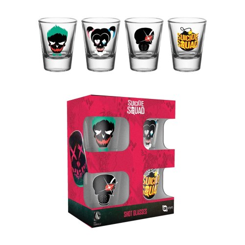 Suicide Squad Mix 2 Shot Glasses