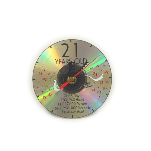 CD Clock 21st Years Old