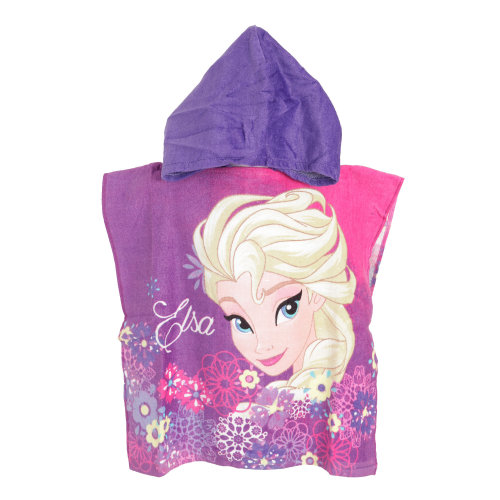Frozen Childrens/Kids Elsa Towelling Poncho