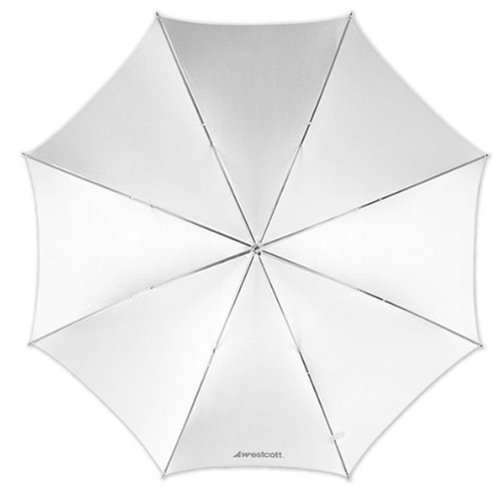 Westcott 2001 43 Inch Optical White Satin Collapsible Umbrella
