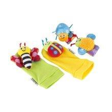 Gardenbug Wrist Rattle Foot Finder Set - Lamaze Foot Multicoloured -  lamaze wrist rattle set gardenbug foot footfinder multicoloured