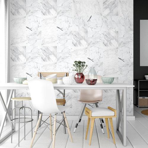 4 Bathroom Kitchen Marble Wall Tile Stickers Mix - 20 cm x 20 cm - 12 pcs.