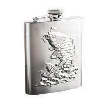 [Koi Relief] Creative Hiking/Camping Stainless Steel Hip Flask  , 8oz