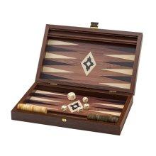 Manopoulos Wenge Travel Backgammon Set