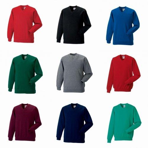 Russell Workwear V-Neck Sweatshirt Top