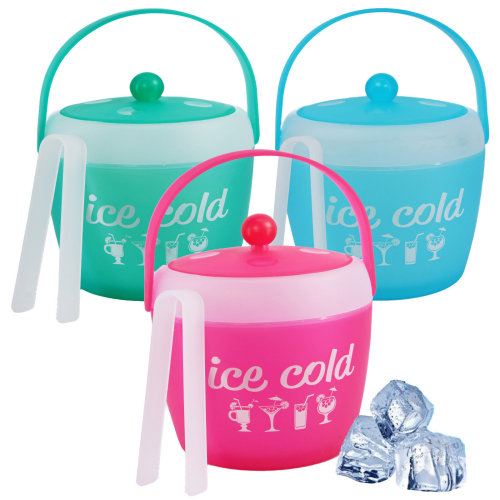 Plastic Ice Cold Bucket with Tongs