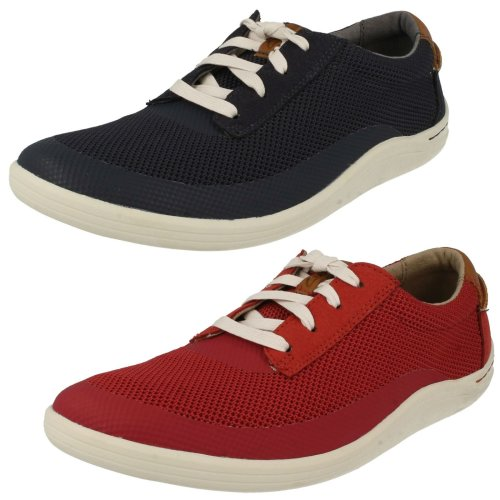 Mens Clarks Casual Lace Up Shoes Mapped Edge - G Fit