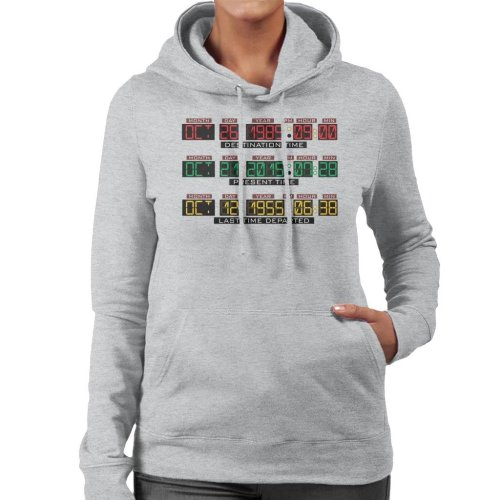 Back To The Future Delorean Time Machine Women's Hooded Sweatshirt