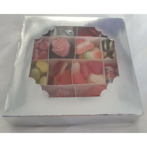 Personalised Gift box heart love sweets chocolates wedding halal vegetarian 500g