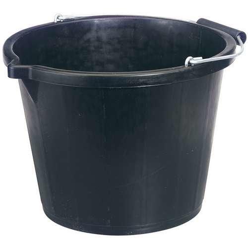 Draper Contractors Plastic Bucket - 31687 Black 148l -  bucket draper 31687 black 148l