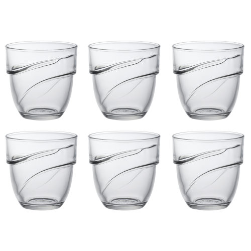 Duralex Set of 6 Wave Stacking Tumblers, 27cl