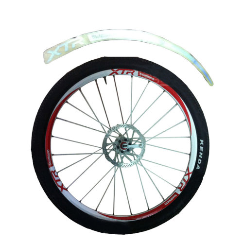 [WHITE]Unique Colour XTR 12 Pics Reflective Bike Rim Sticker Wheel Decal Sticker