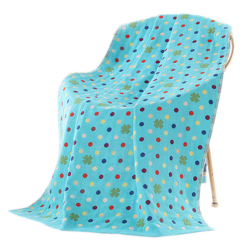Large Soft Beach Towels 140*70cm Dots Pattern, Blue
