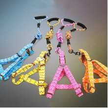 Foam Handle Pet Chest Back Type Harness Traction Rope