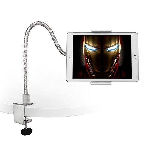AboveTEK Heavy Duty Aluminum Gooseneck Tablet Arm iPad iPhone Desk Mount Holder