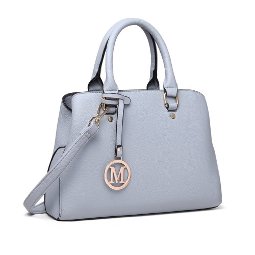 Miss Lulu Women Leather Handbag Shoulder Bag Tote with Multi Compartments  Blue on OnBuy e6b7228ab5f1e