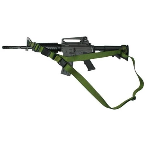 Specter Gear 009 OD CQB Sling M-4A1 Collapsible Stock & Side Front Sling Swivel Olive Drab