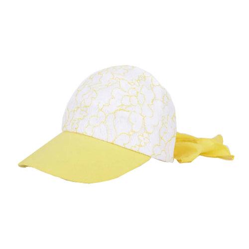 Girls' Beautiful Fashional Visor Sport Hat\Summer SunProof Lace Edge Hat(Yellow)
