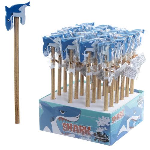 Fun Shark Design Pencil and Eraser Set