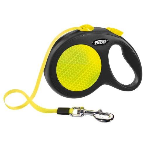 Flexi Tape Leash New Neon Size L 5 m Black and Neon 20917