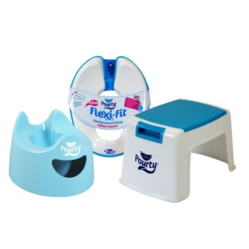 Pourty Toilet Training Combo - Potty, Flexi-fit Toilet Seat & Up Step Stool