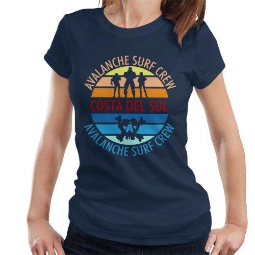 Final Fantasy Costa Del Sol Avalanche Surf Crew Women's T-Shirt