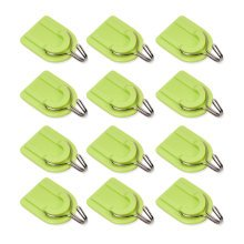 Powerful Adhesive Hooks Wall Door Sticky Hanger Holder 12Pcs