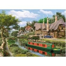 King Cottage Canal Jigsaw Puzzle (1000 Pieces)