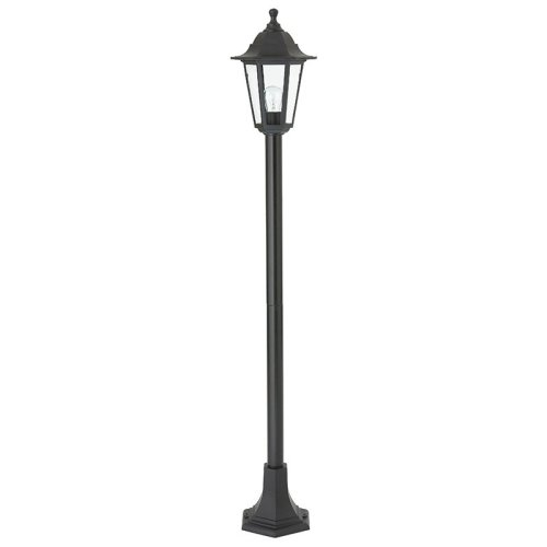 Single IP44 60W Outdoor Bollard Post In Black