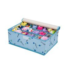 Foldable Home Small Item Organizer Socks/Underwear Storage Box 18 Grids