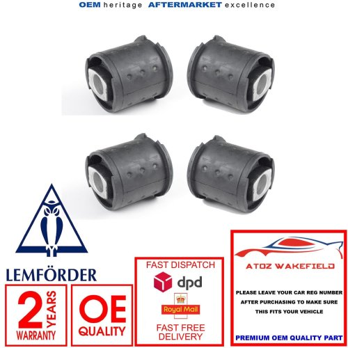 FOR BMW E39 520 523 525 528 530 540 M5 REAR AXLE TRAILING ARM SUBFRAME BUSHES X4