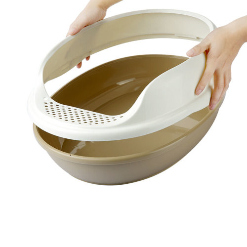 "Indoor Training Pet Potty Cat litter Basin(19.5""*15""*7.8""),BROWN"