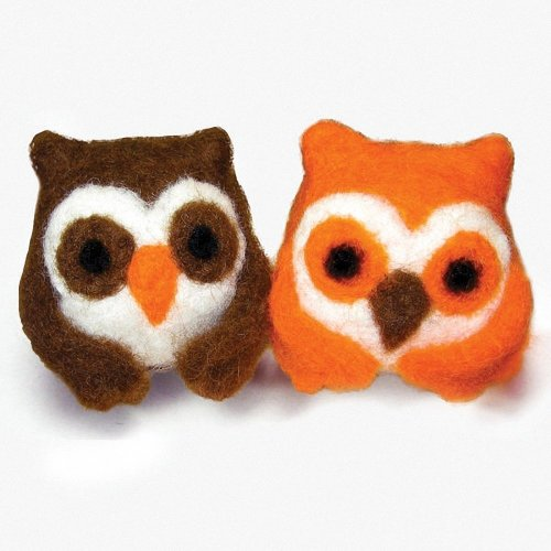 D72-73906 - Dimensions Needle Felting - Round & Wooly: Owls