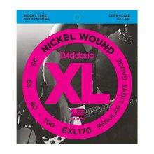 D'Addario EXL170 Nickel Wound Bass Guitar Strings, Light 45-100, Long Scale