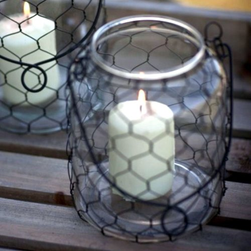 Small Wire Mesh Lantern