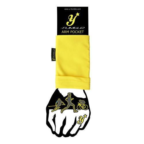Y-Fumble Sport Arm Band Pocket Yellow Large