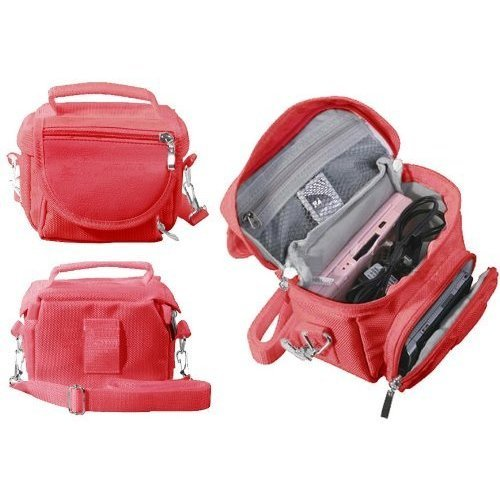 FoneM8® - Red Travel Bag Carry Case For Nintendo 3DS, 3DS XL also Fits all other versions Of DS, DS Lite, DSi, DSi XL, 3DS, 3DS XL, New 2DS XL