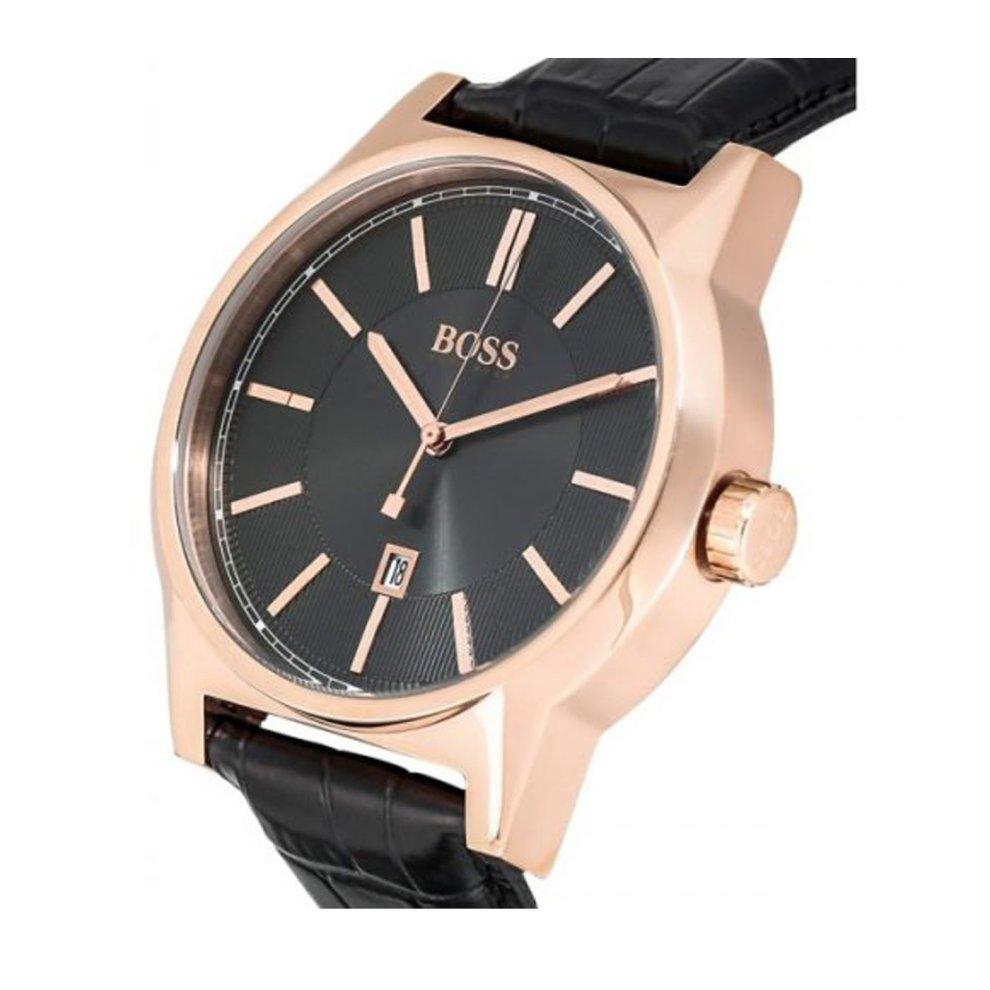 Hugo Boss Mens Rose Gold Black Watch Hb1513073 On Onbuy