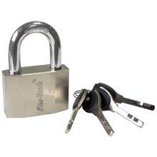 60mm Security Padlock Lock - Heavy Duty Steel Shackle Double Ball Mechanism -  60mm security padlock heavy duty steel shackle double ball mechanism