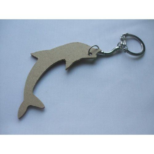 MDF Wooden Keyring For Decoration - Dolphin Shaped
