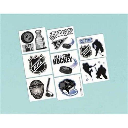 Amscan 393257 NHL Tattoos - Pack of 192