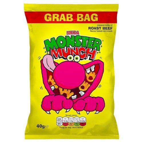 Walkers Monster Munch Roast Beef Snacks, 40 g (Pack of 30)