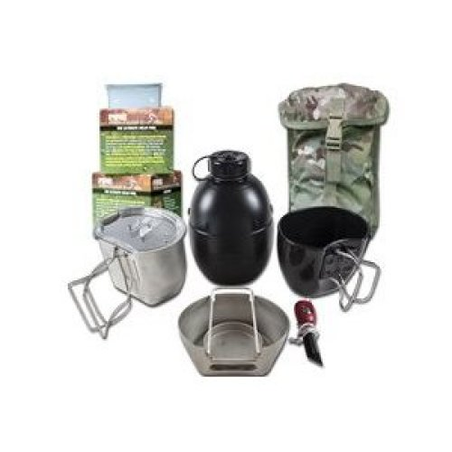 BCB CN004SM Crusader Cooking System Silver 8 Piece Multicam Pouch