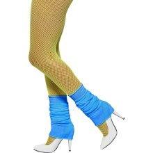 Neon Blue Leg Warmers -  neon blue legwarmers fancy dress smiffys 80s ladies