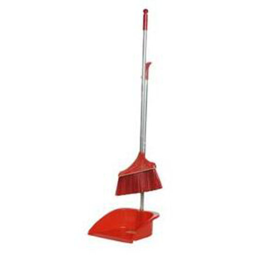 Durable Removable Broom and Dustpan Standing Upright Grips Sweep Set with Long Handle, #C2