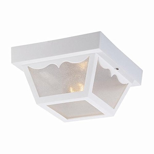 Acclaim P4901WH Durex Collection 1 Light Ceiling Mount Outdoor Light Fixture Gloss White