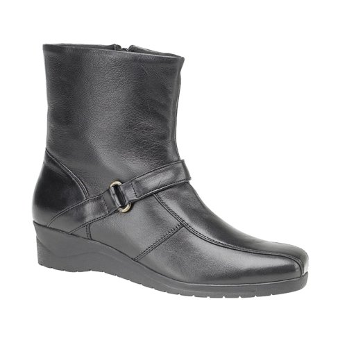 Mod Comfy Womens Boot Wedge Strap Black