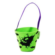 Trick Or Treat Green Halloween Party Decor Children Prop Candy Storage-A10