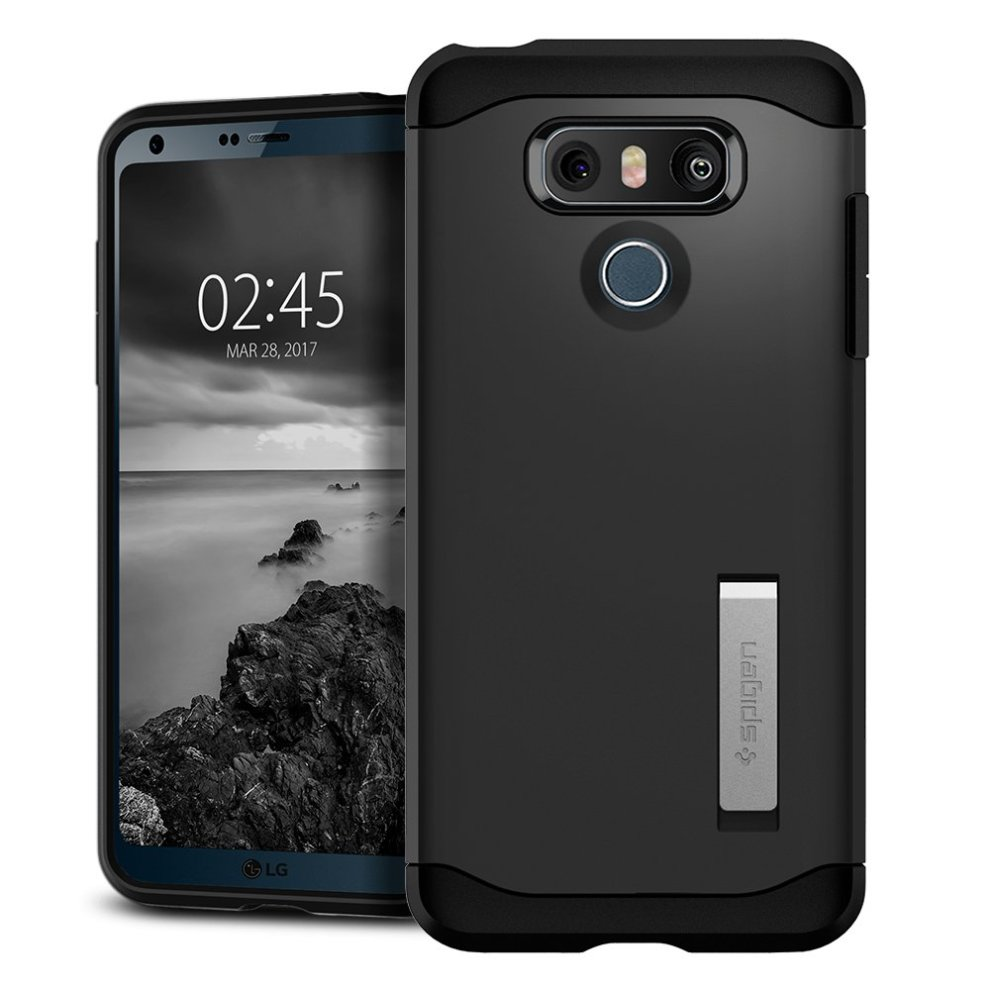 buy popular 2e393 14fad Spigen Slim Armor LG G6 Case with Air Cushion Technology and Hybrid Drop  Protection for LG G6 (2017) - Metal Slate