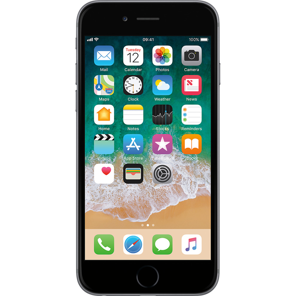 Tesco Mobile, 16GB Apple iPhone 6 - Space Grey